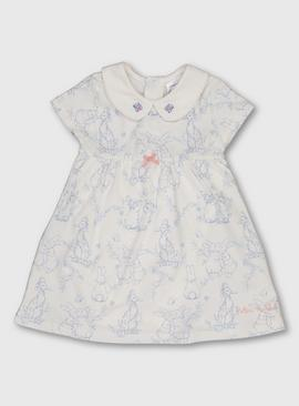 Peter Rabbit Cream & Blue Jersey Dress