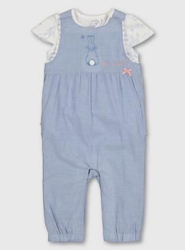 Peter Rabbit Blue Woven Romper & Bodysuit