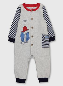 Paddington Grey & Navy Stripe Bodysuit