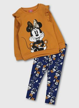 Disney Minnie Mouse Ochre Top & Navy Leggings