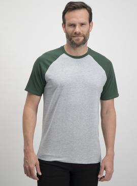 Green Short Sleeved Raglan T-Shirt