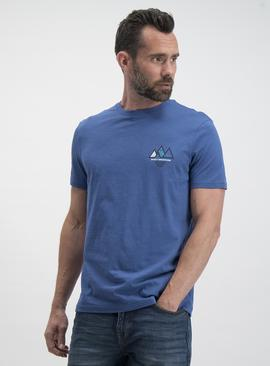 Blue Rocky Mountains Graphic Regular Fit T-Shirt