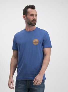 Blue Motorcycle Graphic Regular Fit T-Shirt