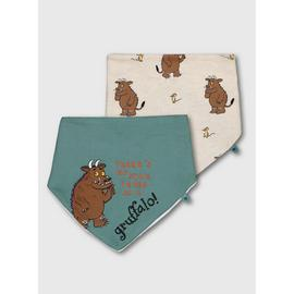 The Gruffalo Multicoloured Hanky Bibs 2 Pack - One Size