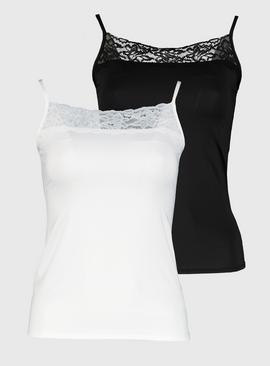 White & Black Cami Top 2 Pack