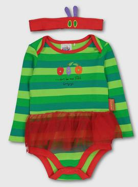 The Very Hungry Caterpillar Green Bodysuit & Headband