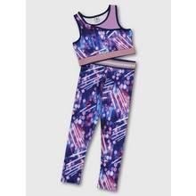 Purple Crop Top & Leggings Dance Set