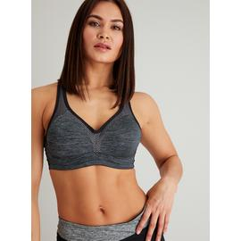 Active Grey Underwired High Impact Sports Bra