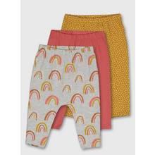 Multicoloured Rainbow Hareem Legging 3 Pack