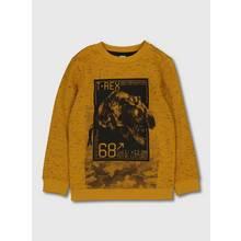 Mustard Yellow Marl Dinosaur Sweatshirt