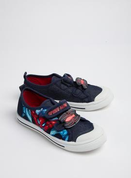 Online Exclusive Spider-Man Blue Twin Strap Shoes