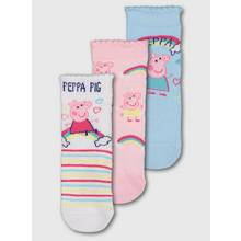 Peppa Pig Multicoloured Sock 3 Pack