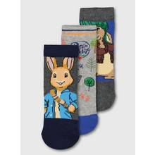 Peter Rabbit Grey & Blue Sock 3 Pack