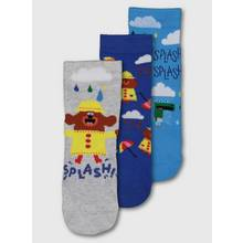 Hey Duggee Blue Ankle Sock 3 Pack
