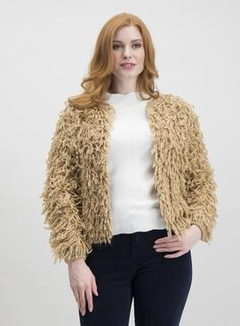 Online Exclusive Light Brown Loopy Cardigan