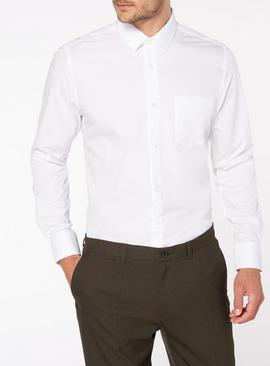 2 Pack White Tailored Fit Shirts
