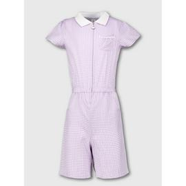 Navy Gingham School Playsuit