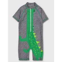 Grey & Green Crocodile All In One Swimsuit