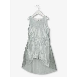 Silver Sleeveless Playsuit Dress