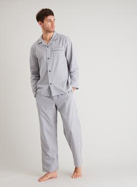 Grey Gingham Twill Traditional Pyjamas