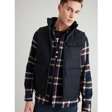 Dark Navy Pocketed Wadded Gilet