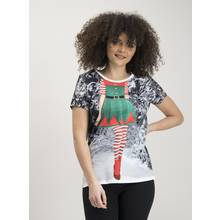 Christmas Photographic Elf Print T-Shirt