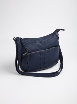 Navy Washed Cross Body Small Bag - One Size