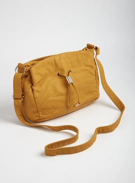 Mustard Yellow Washed Cross Body Bag - One Size