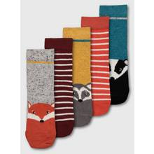 Assorted Woodland Animal Socks 5 Pack