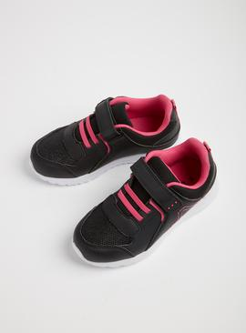 Black & Pink School Trainers