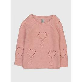 Pink Heart Knit Jumper