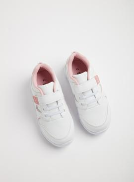 White & Pink School Trainers