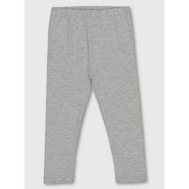 Light Grey Cotton Rich Leggings