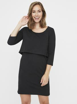 Black Jersey Nursing Dress