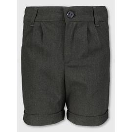 Black School Shorts With Stretch