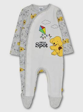 Spot The Dog Grey Sleepsuit