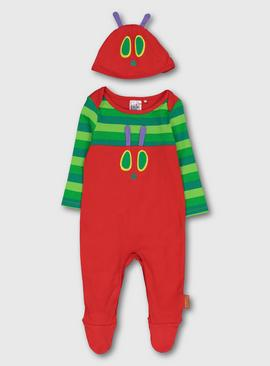 The Very Hungry Caterpillar Red Sleepsuit & Hat