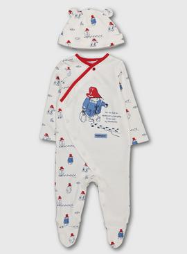 Paddington Cream Sleepsuit & Hat