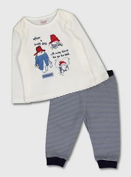 Paddington White Stripe Pyjamas
