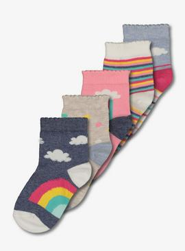 Multicoloured Rainbow Sock 5 Pack