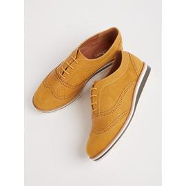 Sole Comfort Mustard Bubble Sole Lace-Up Shoes