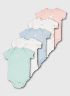 Pastel Unicorn Bodysuit 5 Pack