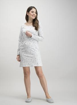 Grey Marl Snowflake Nightdress