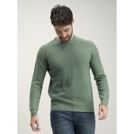Sage Green Tuck Stitch Crew Neck Jumper