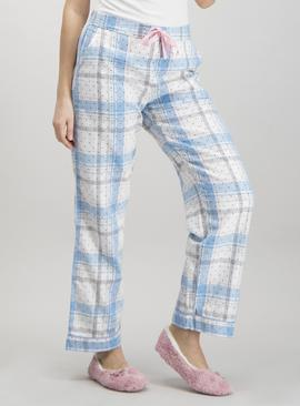 Pastel Pink & Blue Check Pyjama Bottoms
