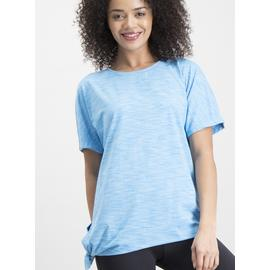 Active Blue Space Dye Tie Side Short Sleeve T-Shirt
