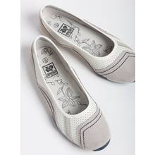 Online Exclusive White Leather Sports Ballerina Pumps