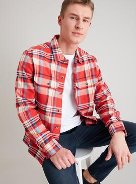 Bright Red & Blue Check Overshirt