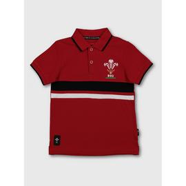 Wales Rugby Red Polo Shirt