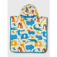 Multi Zoo Animal Hooded Baby Poncho Towel - One Size